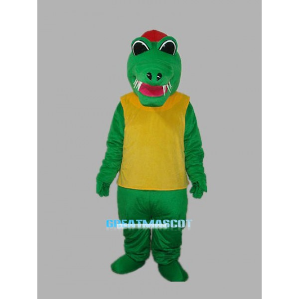 Africa Crocodile with Waistcoat Adult Mascot Costum Free Shipping