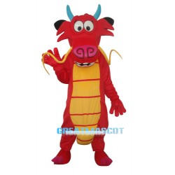 Red Mushu Mascot Adult Costume Free Shipping