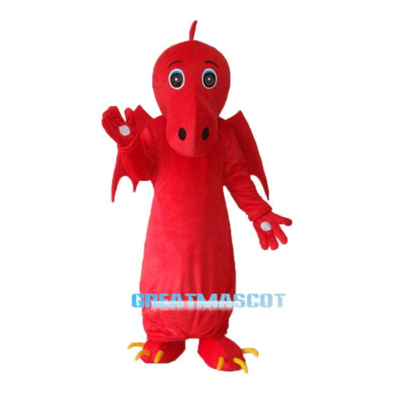 Red Chinese Dragon Mascot Adult Costume Free Shipping