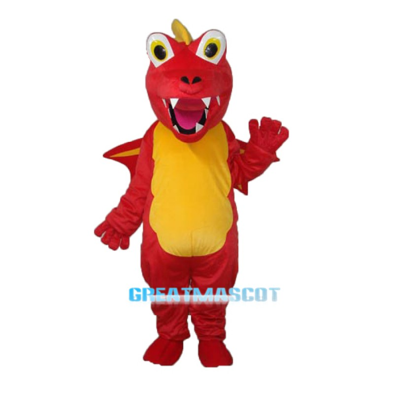 Red Thorn Dragon Mascot Adult Costume Free Shipping