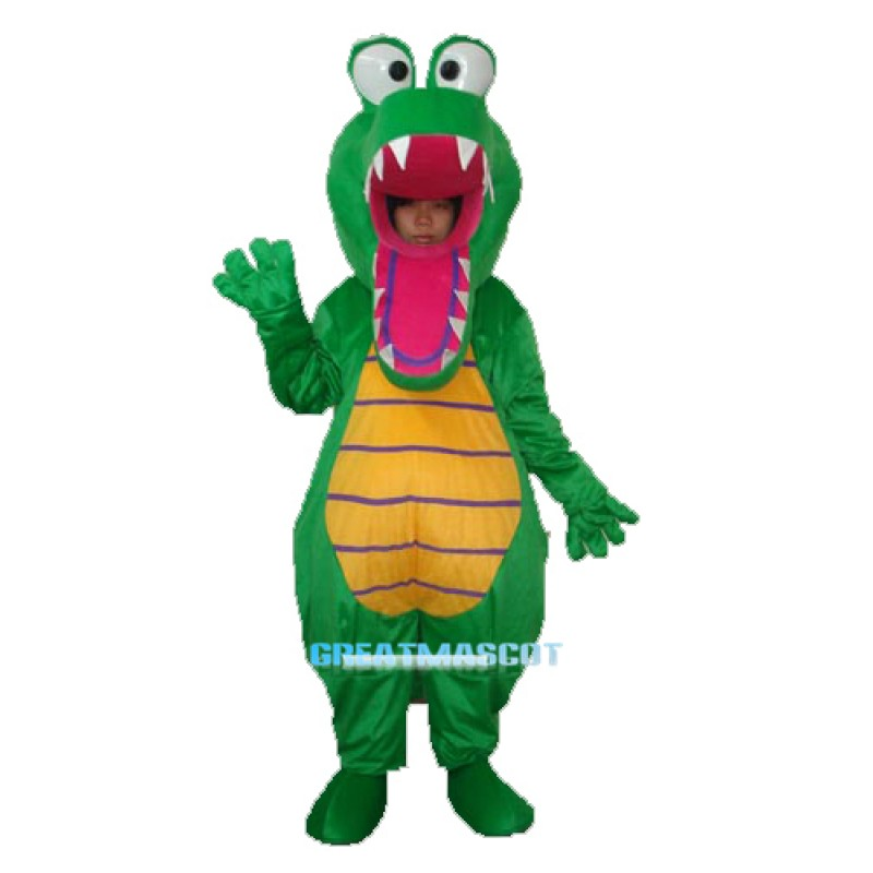 Open Mouth Crocodile Mascot Adult Costume Free Shipping