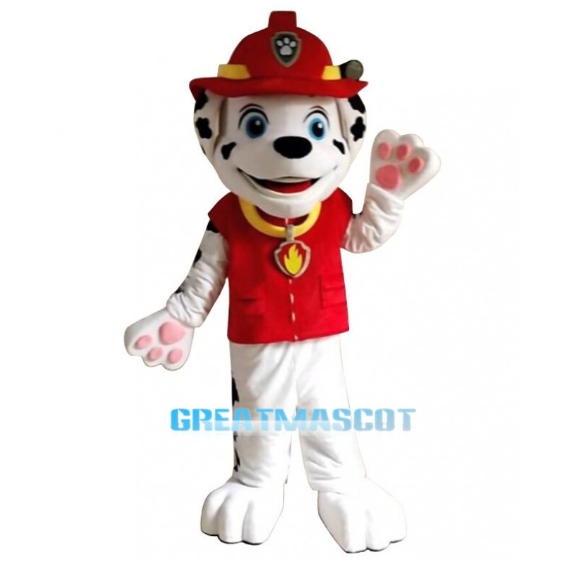 Red Paw Patrol Marshall Cartoon Mascot Costume Free Shipping