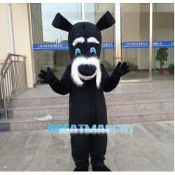 Black Dog Mascot Costume Cartoon Free Shipping