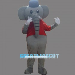 Grey Elephant Mascot Costume Cartoon Costum Free Shipping