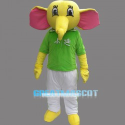 Yellow Elephant Mascot Costume Cartoon Costum Free Shipping