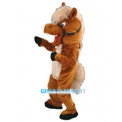 Stable Horse Mascot Costume - Plush Free Shipping