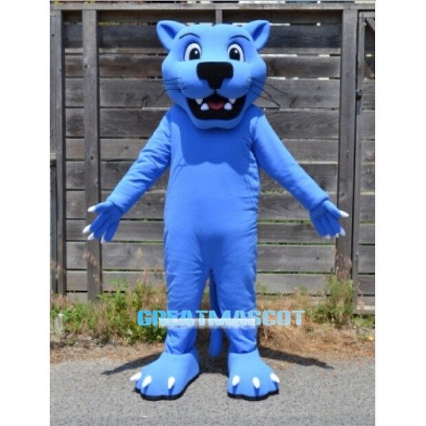 Blue Panther Mascot Costume Leopard Free Shipping