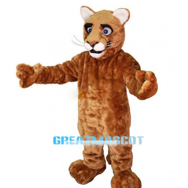 Little Leopard Panther Cat Cougar Cub Mascot Costume Free Shipping