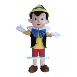 Pinocchio Mascot Costume Adult Halloween Cartoon Mascot