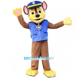 High Quality Paw Patrol Chase Dog Mascot Costume