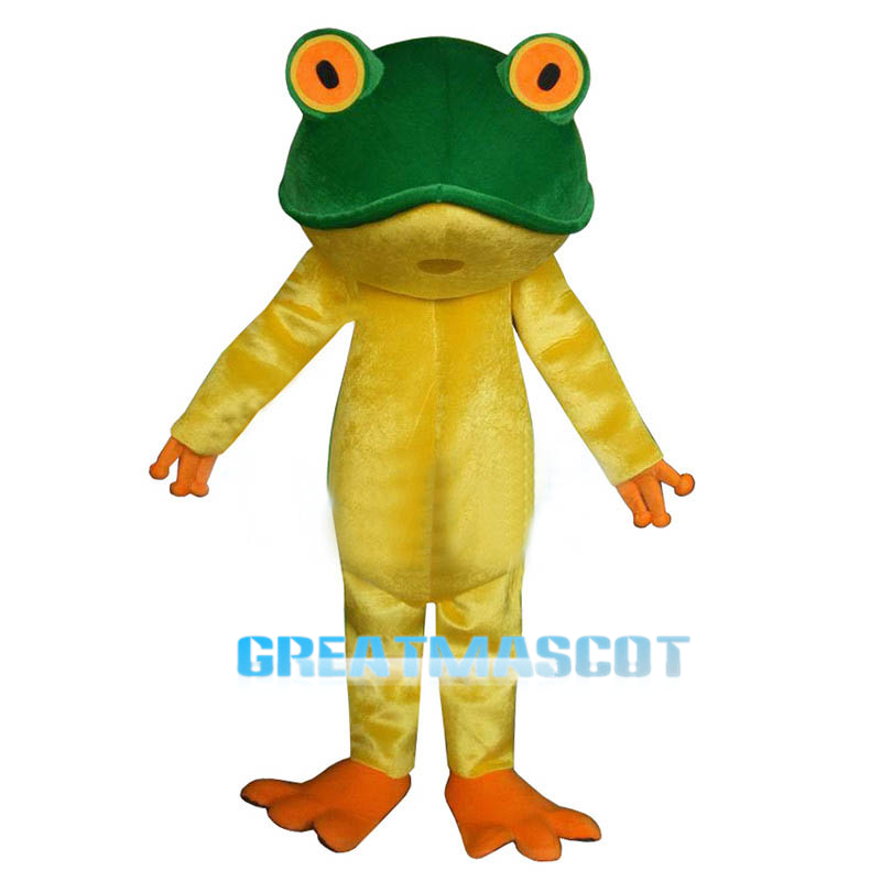 Frog New Professional Green Frog Adult Mascot Costume