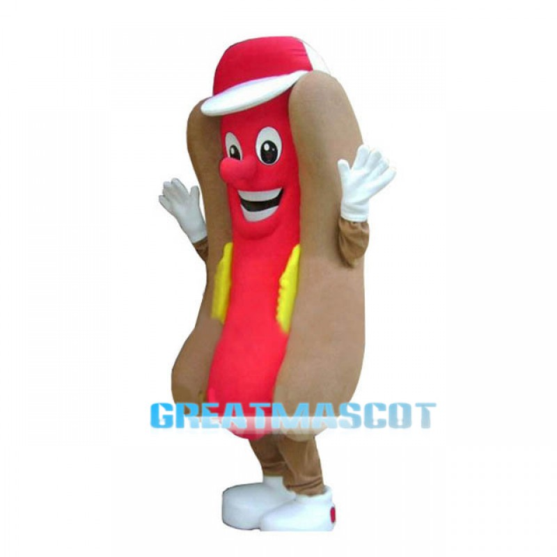 Hot Dog Fast Food Advertising Restaurant Mascot Costume