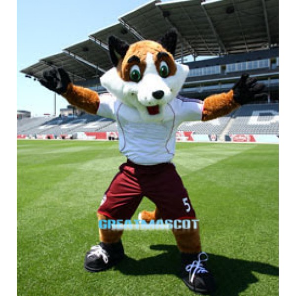 High Quality Soccer Fox Mascot Costume