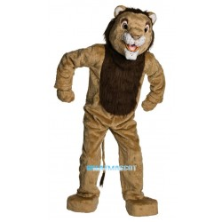 Plush Adult Deluxe Lion Mascot Costume