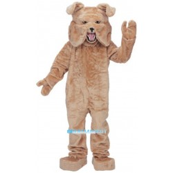 Adult Super Deluxe Tan Mascot Bulldog Costume