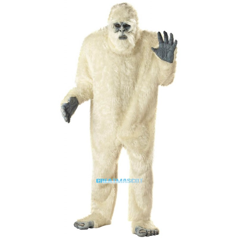 Adult Deluxe Abominable Snowman Scary Mascot Costume