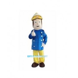 New Fireman adult mascot costume Free Shipping