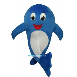 2nd Version of Blue Dolphin Mascot Adult Costume Free Shipping