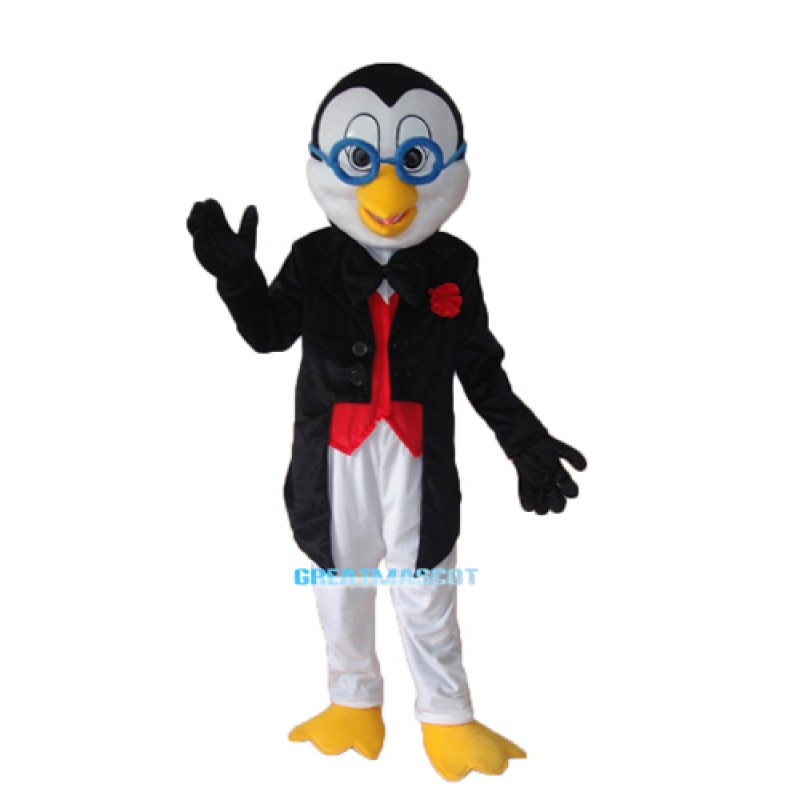 Old Glasses Penguin Mascot Adult Costume Free Shipping