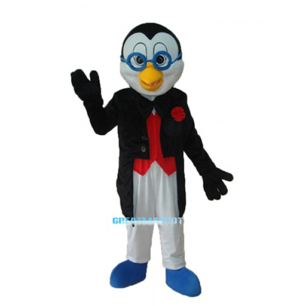 New Glasses Penguin Mascot Adult Costume Free Shipping