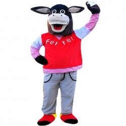 Cute Black Donkey Mascot Costume Adult Costume