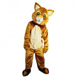 Brown Cat Mascot Costume Adult Costume