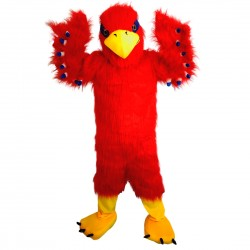 Red Hawk Mascot Costume Adult Costume