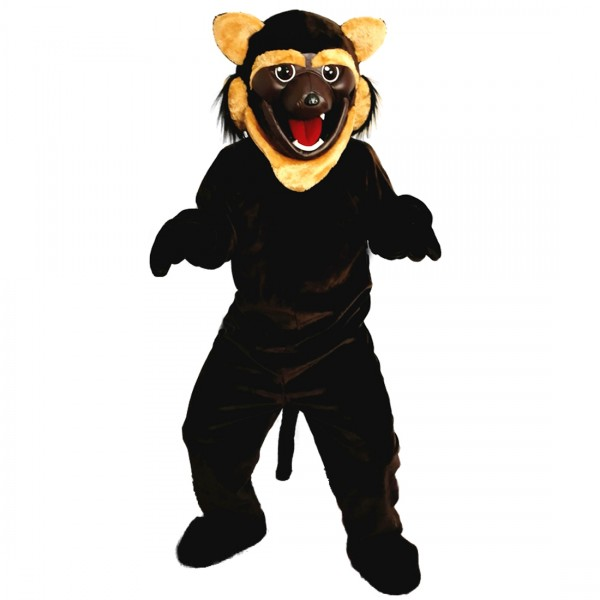 Black Fierce Wolf Wolverine Mascot Costume