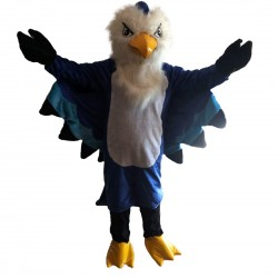 Plush Blue Eagle Mascot Costume