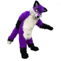 Plush Purple Wolf Husky Mascot Costume