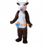 Cute Henry Hereford Cow Mascot Costume