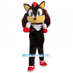 Shadow the Hedgehog Black Sonic Mascot Costume Fancy Dress