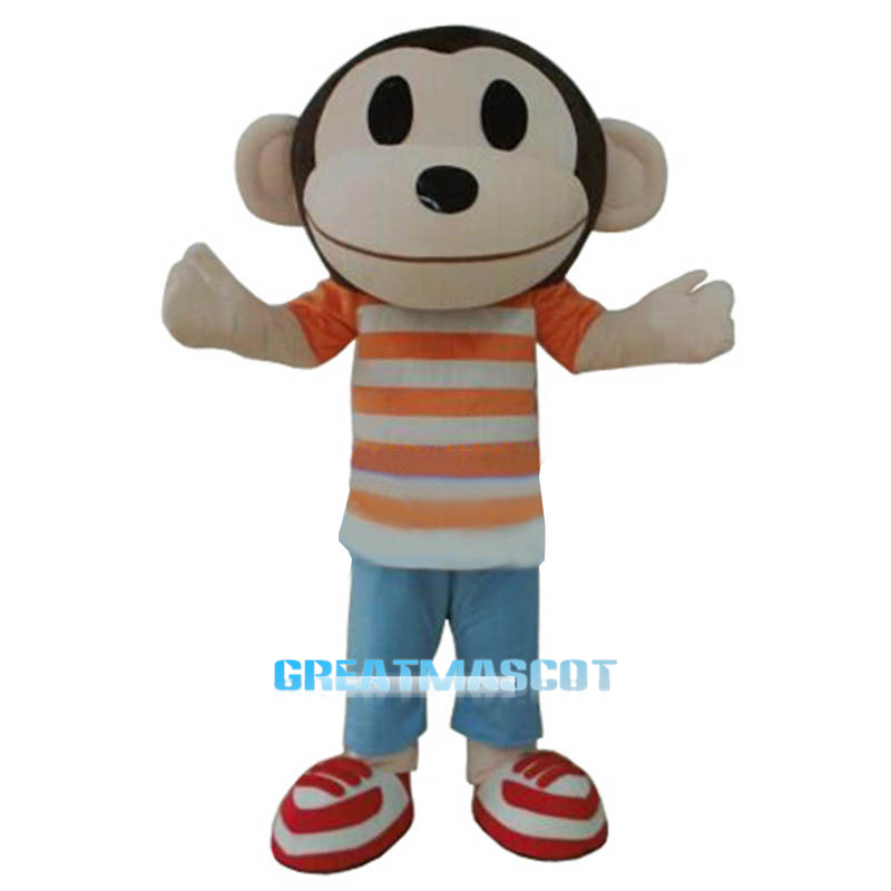 Monkey Adult Animal Cartoon Character Mascot Costume