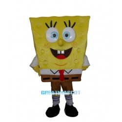 Cute Spongebob Mascot costume Free Shipping