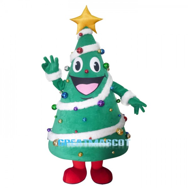 Christmas Tree Mascot costume Free Shipping