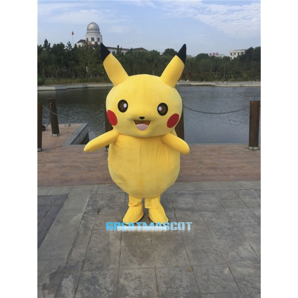 Pikachu Mascot Adult Costume Pokemon Pok Free Shipping