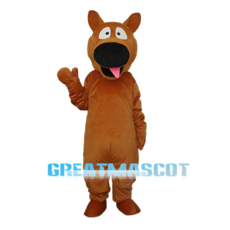 Brown Dog Mascot Adult Costume Free Shipping
