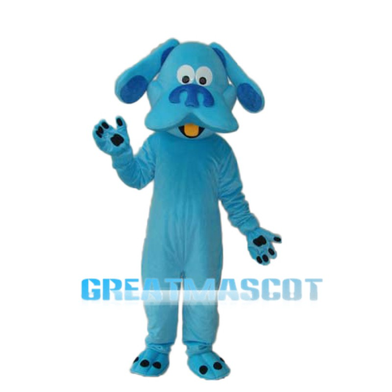 Blue Dog Mascot Adult Costume Free Shipping