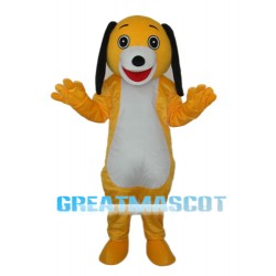 Small Yellow Dog Mascot Adult Costume Free Shipping