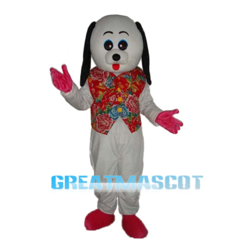 White Dog Mascot Adult Costume Free Shipping