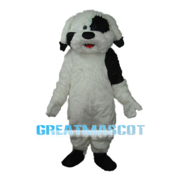 Long Haired Colourful Dog Mascot Adult Costume Free Shipping