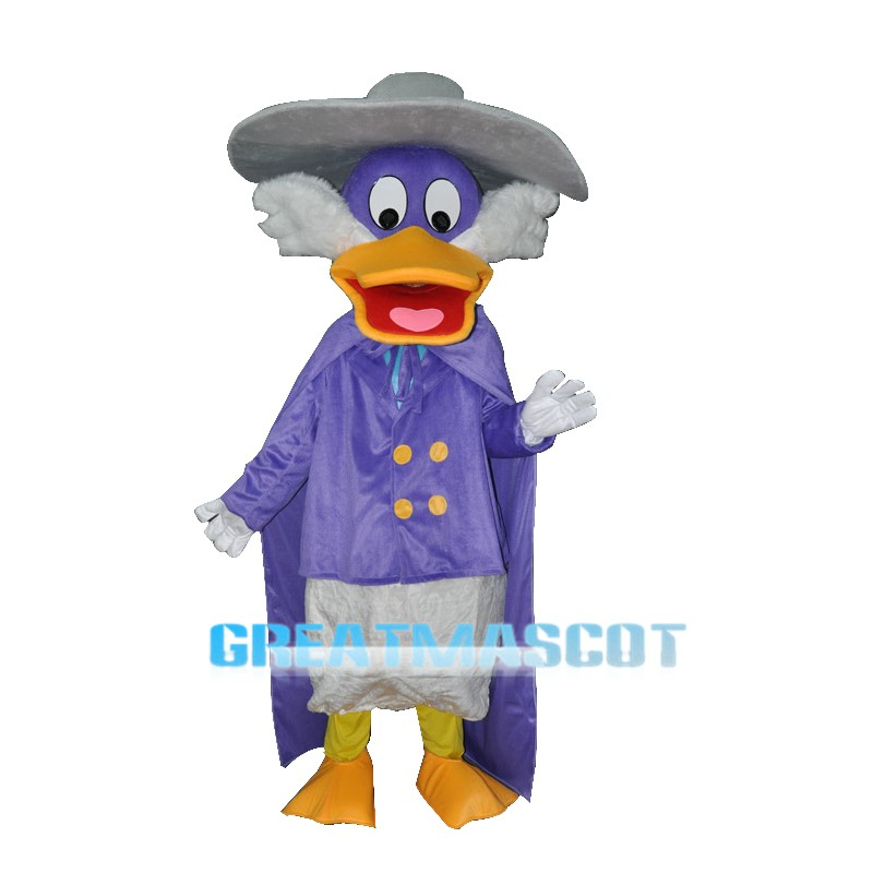 Naughty Purple Duck Adult Mascot Costume Free Shipping