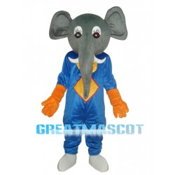 Blue Elephant Mascot Adult Costume Free Shipping