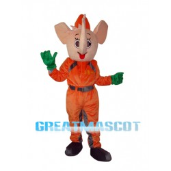 Orange Elephant Mascot Adult Costume Free Shipping