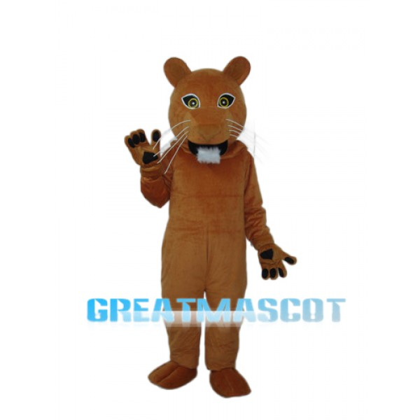 Golden Cougar Mascot Adult Costume Free Shipping