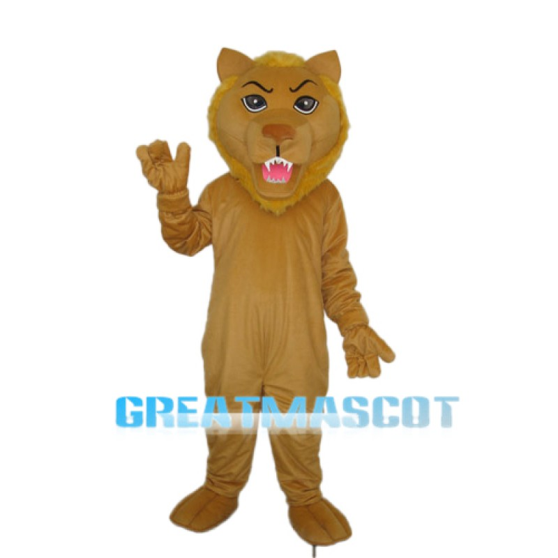 Old Brown Lion Mascot Adult Costume Free Shipping