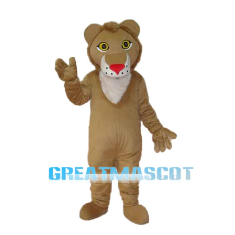 Light Brown Lion Mascot Adult Costume Free Shipping