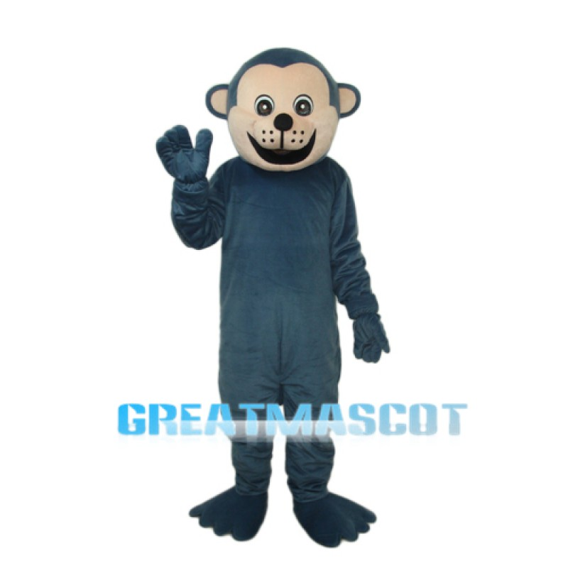 Dark Blue Gorilla Mascot Adult Costume Free Shipping