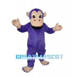Purple Gorilla Mascot Adult Costume Free Shipping