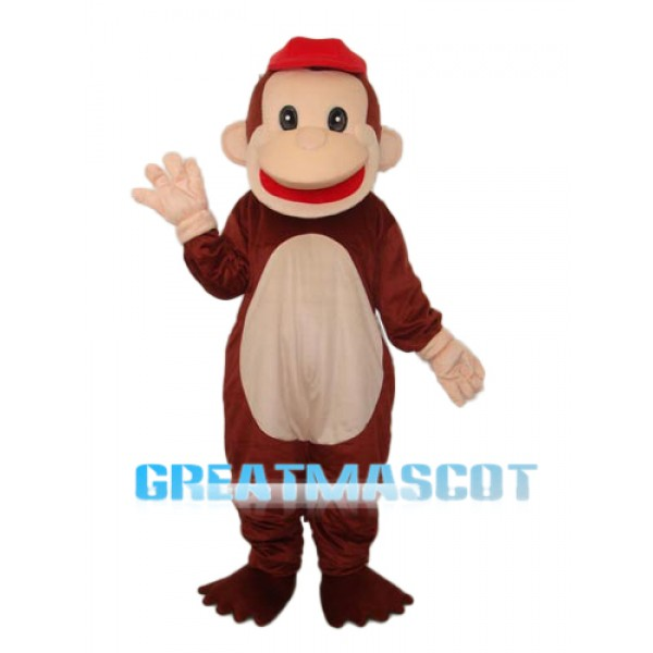 Revised Happy Monkey Mascot Adult Costume Free Shipping